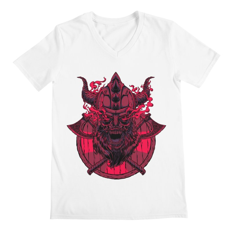 Undead Viking Men's V-Neck by mewtate's Artist Shop