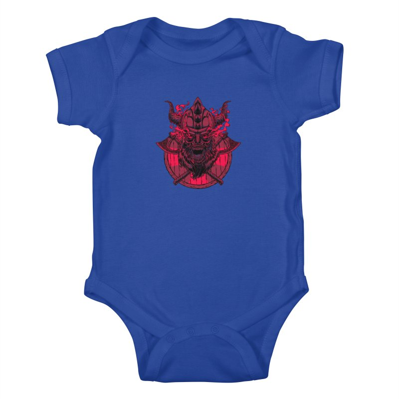Undead Viking Kids Baby Bodysuit by mewtate's Artist Shop