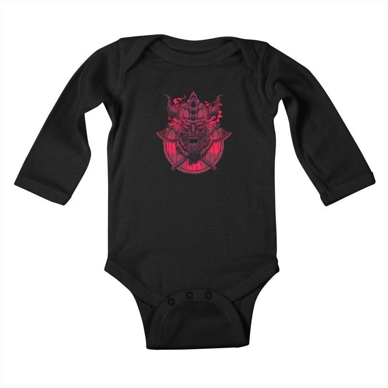 Undead Viking Kids Baby Longsleeve Bodysuit by mewtate's Artist Shop
