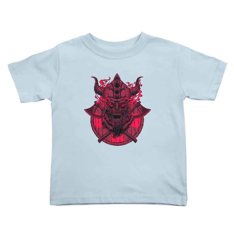 Undead Viking Kids Toddler T-Shirt by mewtate's Artist Shop