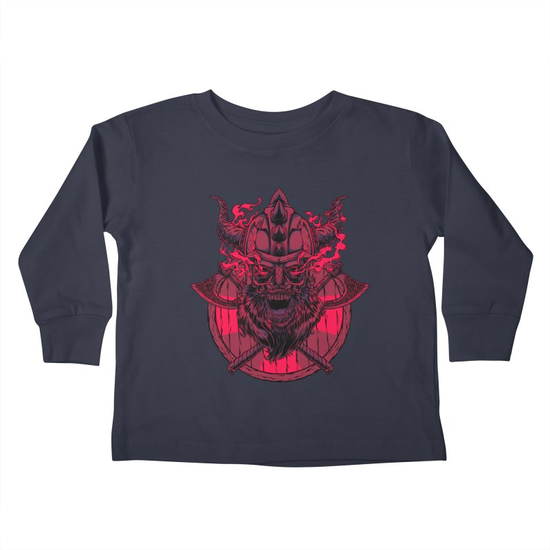 Undead Viking Kids Toddler Longsleeve T-Shirt by mewtate's Artist Shop