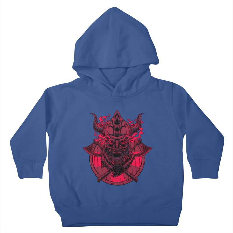 Undead Viking Kids Toddler Pullover Hoody by mewtate's Artist Shop