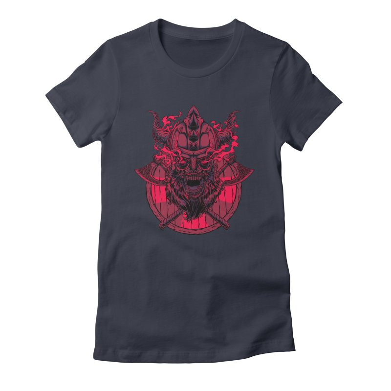 Undead Viking Women's Fitted T-Shirt by mewtate's Artist Shop