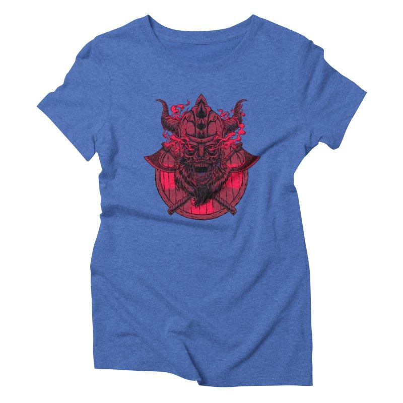 Undead Viking Women's Triblend T-shirt by mewtate's Artist Shop
