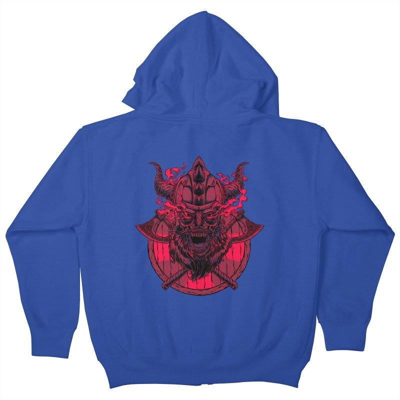 Undead Viking Kids Zip-Up Hoody by mewtate's Artist Shop