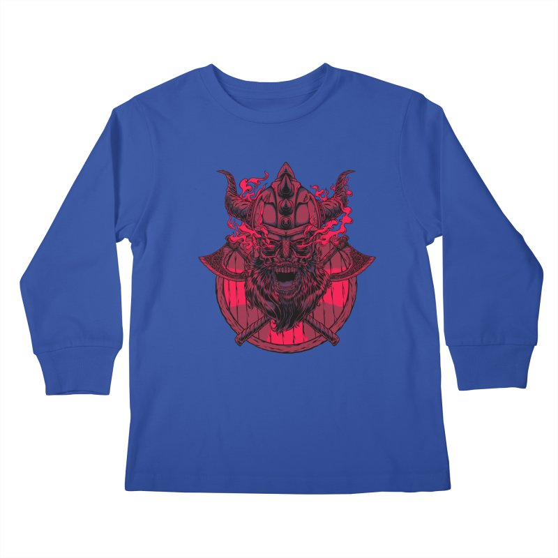 Undead Viking Kids Longsleeve T-Shirt by mewtate's Artist Shop