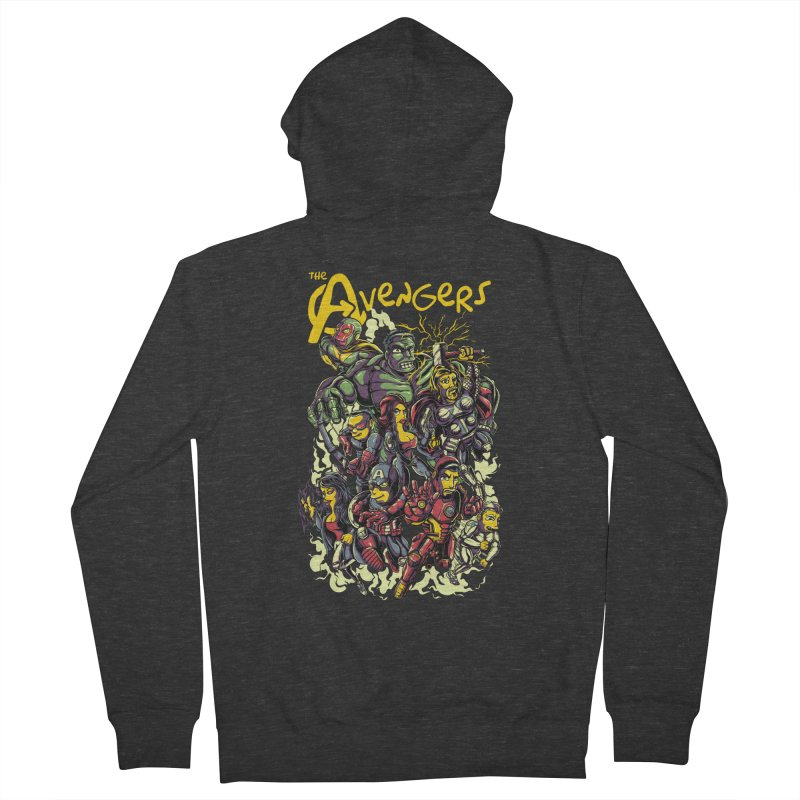 Springfield Avengers Women's Zip-Up Hoody by mewtate's Artist Shop
