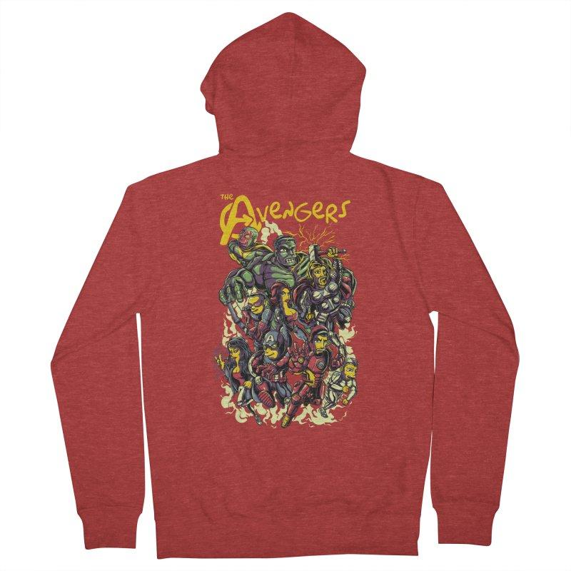 Springfield Avengers Women's Zip-Up Hoody by mewtate's Artist Shop
