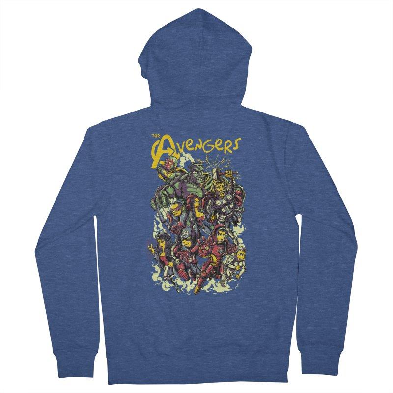 Springfield Avengers Men's Zip-Up Hoody by mewtate's Artist Shop