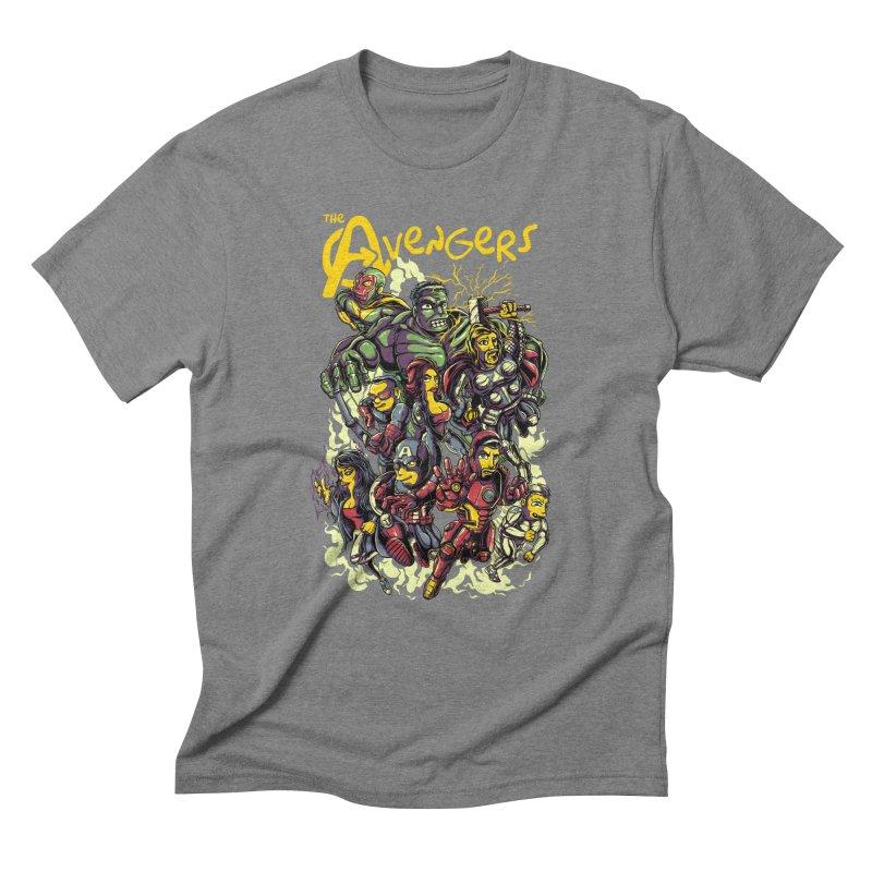 Springfield Avengers Men's Triblend T-Shirt by mewtate's Artist Shop