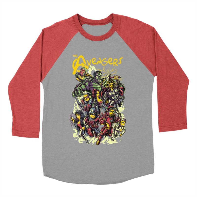 Springfield Avengers Men's Baseball Triblend T-Shirt by mewtate's Artist Shop