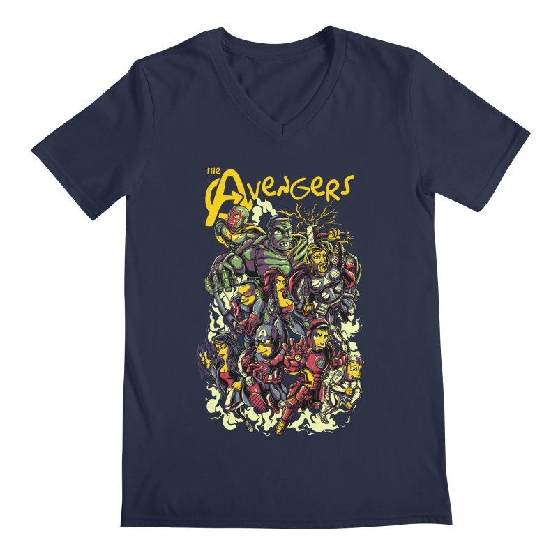 Springfield Avengers Men's V-Neck by mewtate's Artist Shop