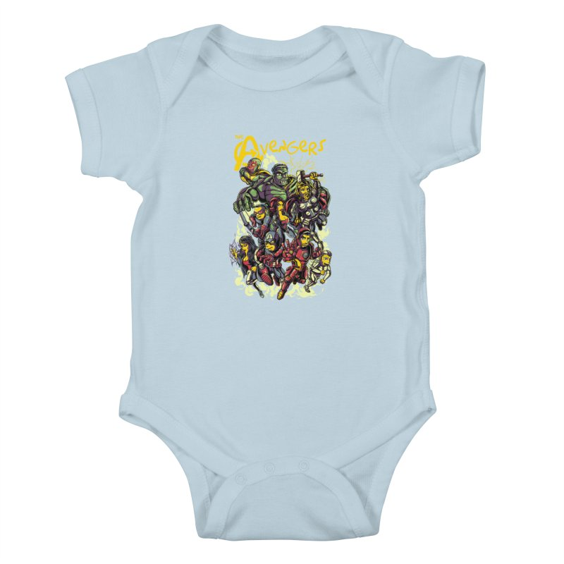 Springfield Avengers Kids Baby Bodysuit by mewtate's Artist Shop