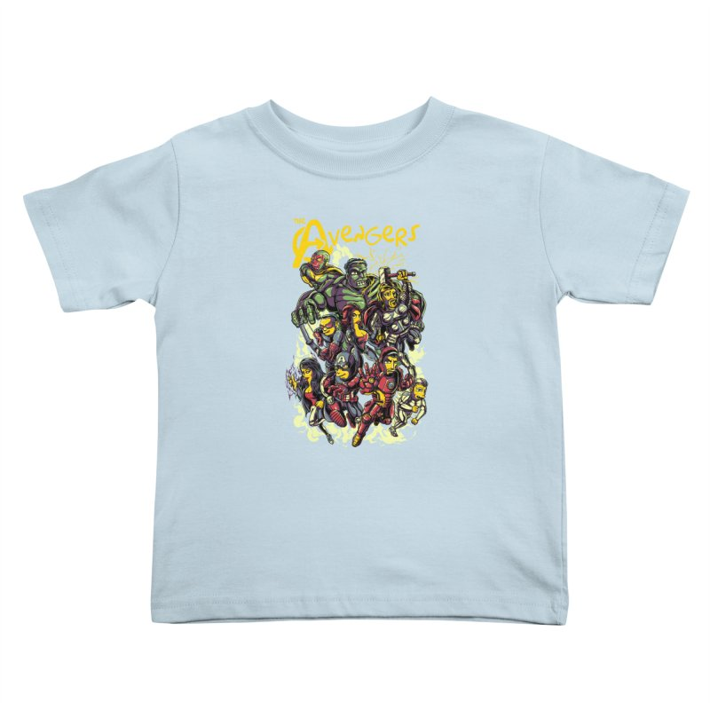 Springfield Avengers Kids Toddler T-Shirt by mewtate's Artist Shop