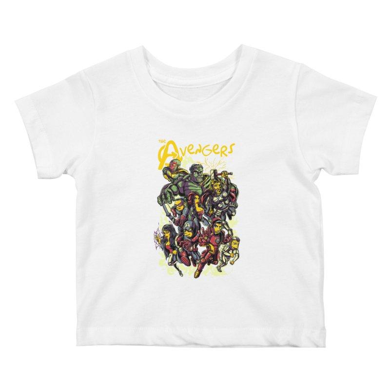 Springfield Avengers Kids Baby T-Shirt by mewtate's Artist Shop