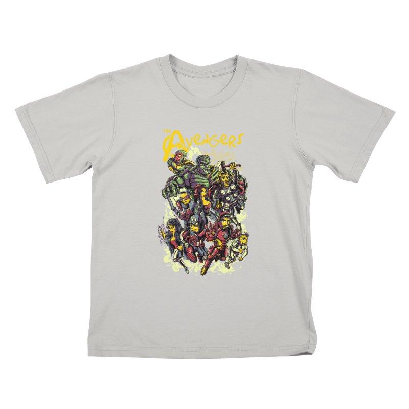 Springfield Avengers Kids T-Shirt by mewtate's Artist Shop