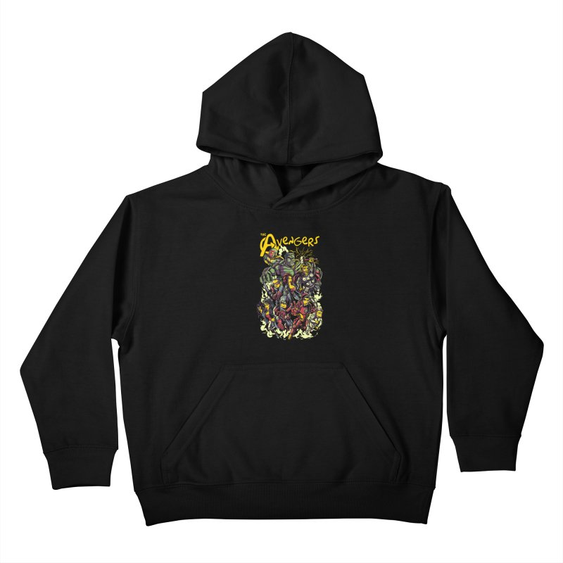 Springfield Avengers Kids Pullover Hoody by mewtate's Artist Shop