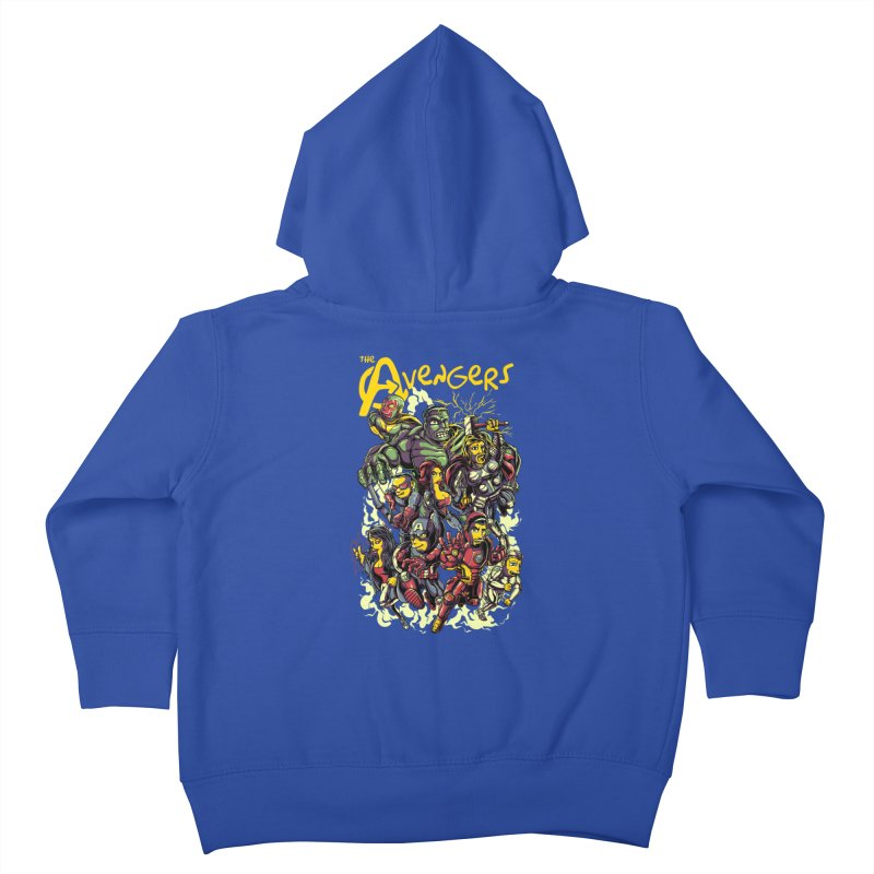 Springfield Avengers Kids Toddler Zip-Up Hoody by mewtate's Artist Shop