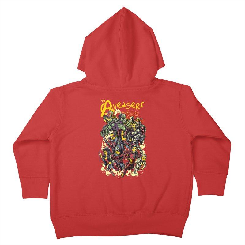 Springfield Avengers Kids Toddler Zip-Up Hoody by mewtate's Artist Shop