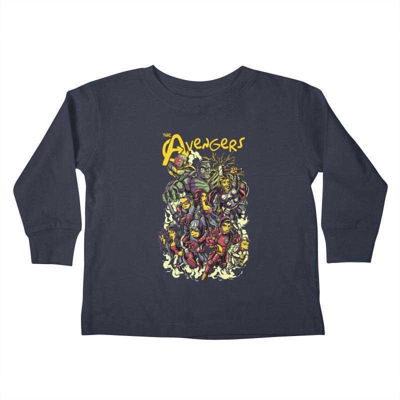 Springfield Avengers Kids Toddler Longsleeve T-Shirt by mewtate's Artist Shop