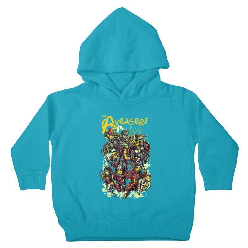 Springfield Avengers Kids Toddler Pullover Hoody by mewtate's Artist Shop