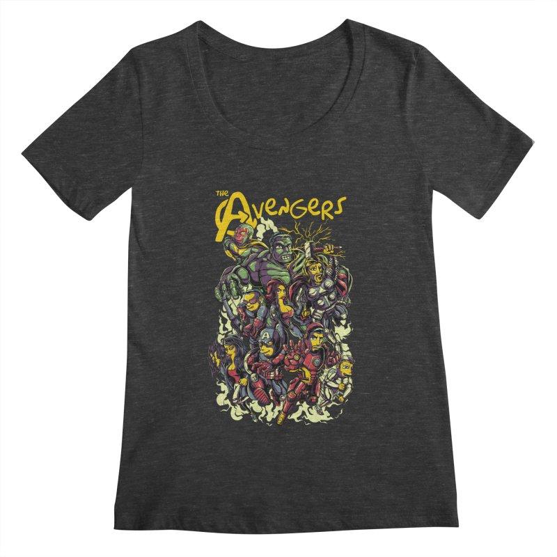 Springfield Avengers Women's Scoopneck by mewtate's Artist Shop