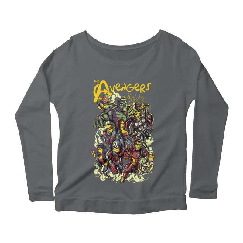 Springfield Avengers Women's Longsleeve Scoopneck  by mewtate's Artist Shop