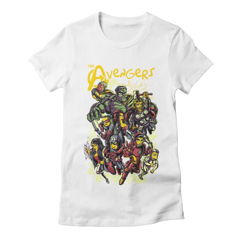 Springfield Avengers Women's Fitted T-Shirt by mewtate's Artist Shop