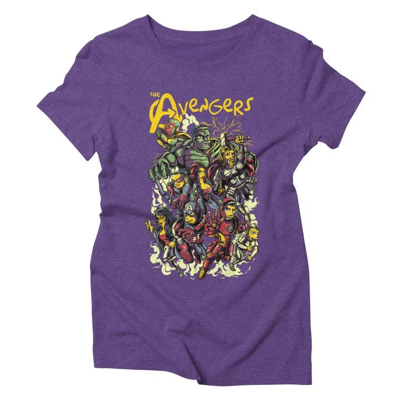 Springfield Avengers Women's Triblend T-shirt by mewtate's Artist Shop