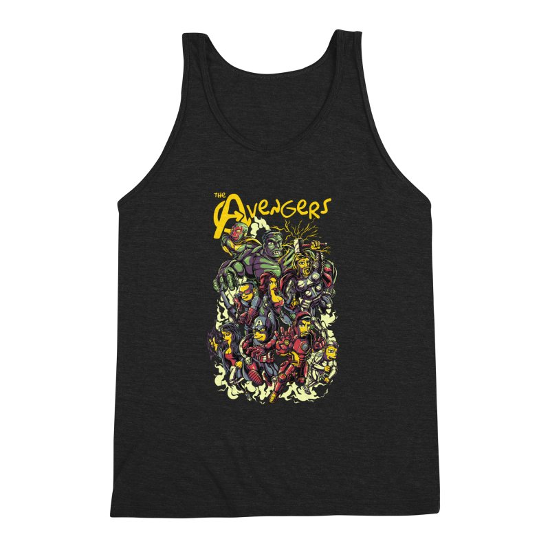 Springfield Avengers Men's Triblend Tank by mewtate's Artist Shop