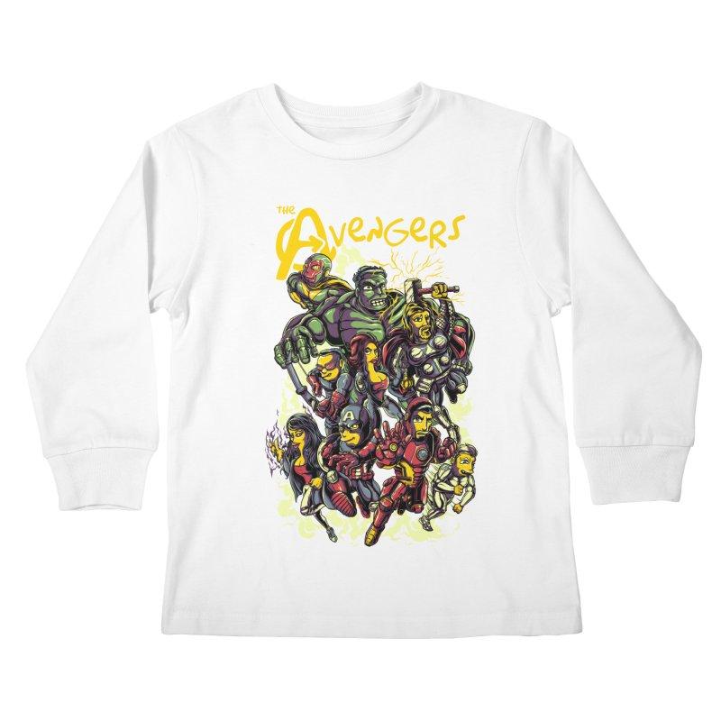 Springfield Avengers Kids Longsleeve T-Shirt by mewtate's Artist Shop