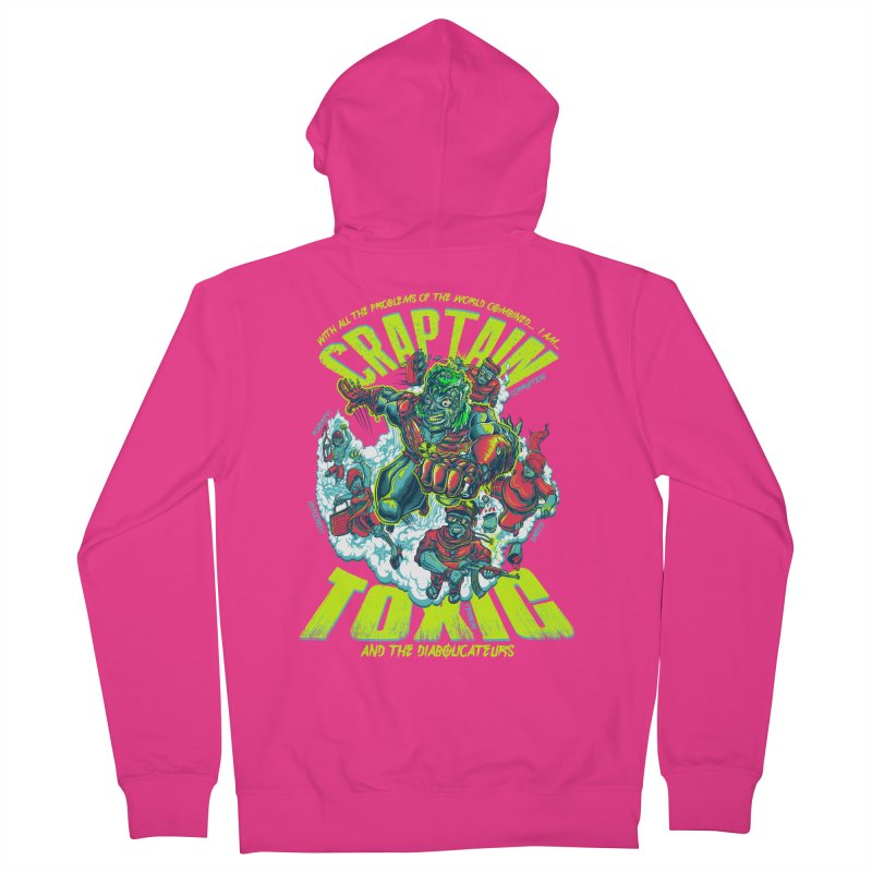 Oh Craptain Men's Zip-Up Hoody by mewtate's Artist Shop