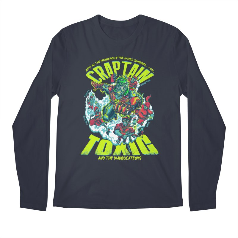 Oh Craptain Men's Longsleeve T-Shirt by mewtate's Artist Shop