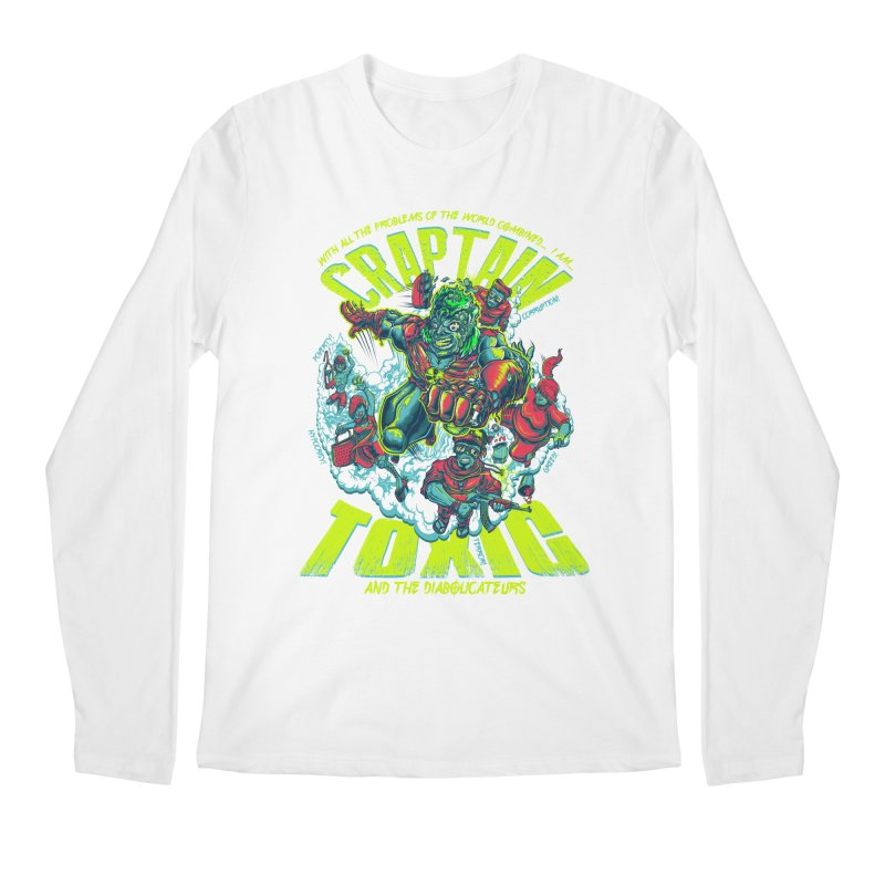 Oh Craptain Men's Longsleeve T-Shirt by mewtate's Artist Shop