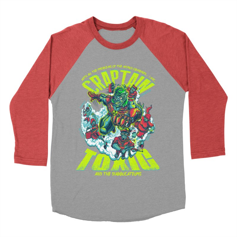 Oh Craptain Men's Baseball Triblend T-Shirt by mewtate's Artist Shop