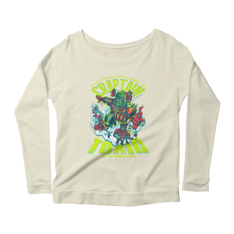 Oh Craptain Women's Longsleeve Scoopneck  by mewtate's Artist Shop