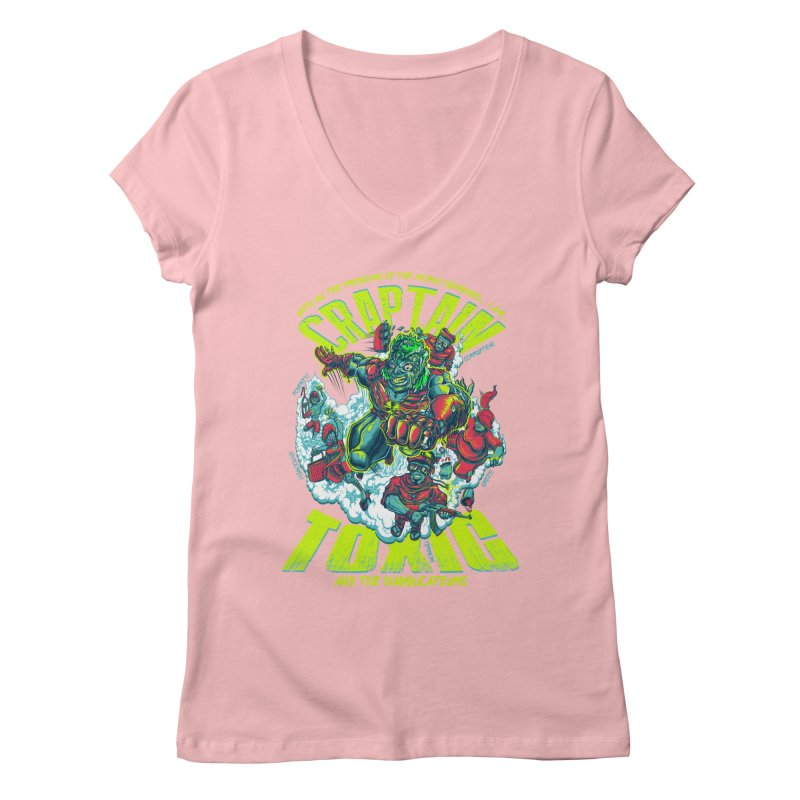 Oh Craptain Women's V-Neck by mewtate's Artist Shop