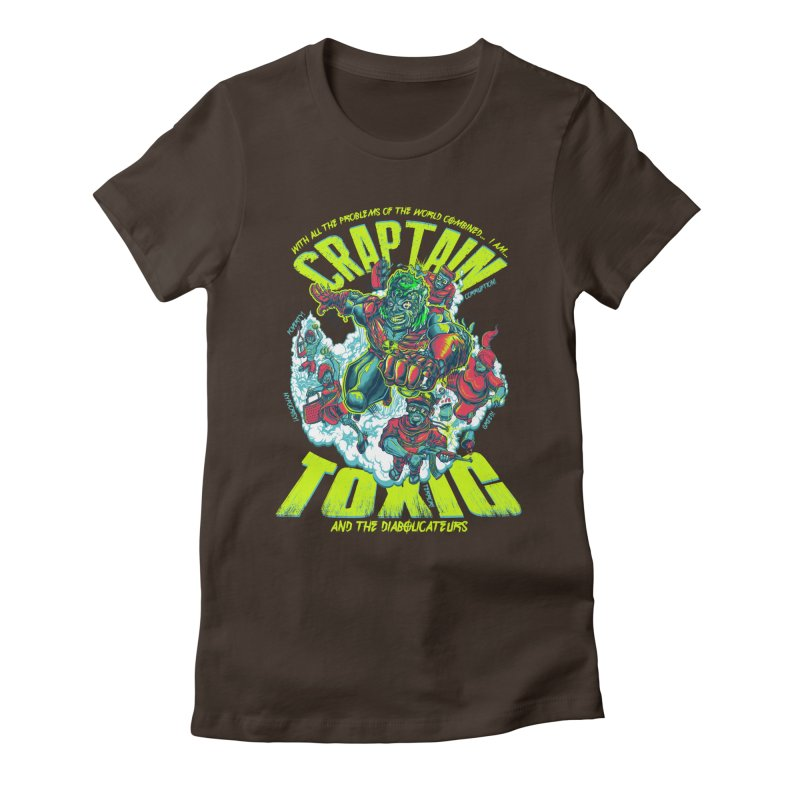 Oh Craptain Women's Fitted T-Shirt by mewtate's Artist Shop