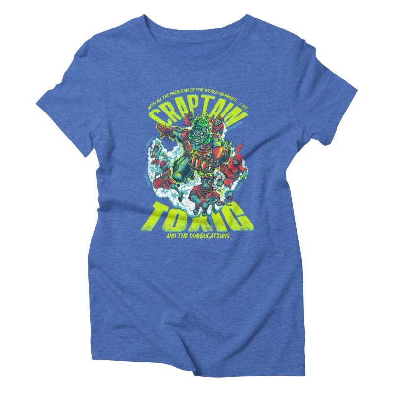 Oh Craptain Women's Triblend T-shirt by mewtate's Artist Shop