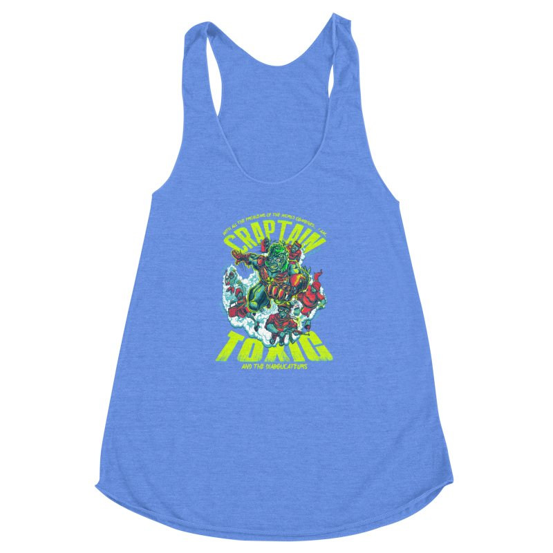 Oh Craptain Women's Racerback Triblend Tank by mewtate's Artist Shop