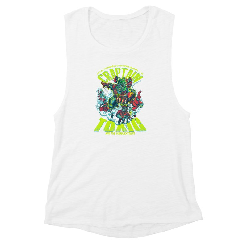 Oh Craptain Women's Muscle Tank by mewtate's Artist Shop