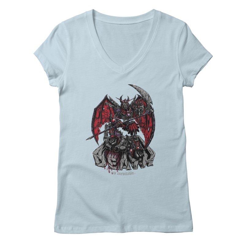 Death Bringer Women's V-Neck by mewtate's Artist Shop