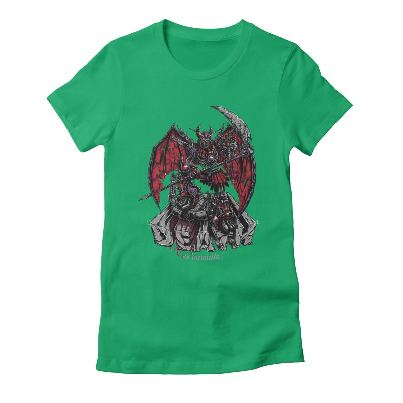 Death Bringer Women's Fitted T-Shirt by mewtate's Artist Shop
