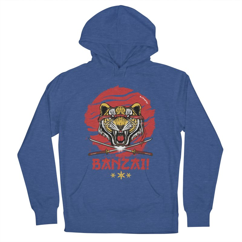 BANZAI! Men's Pullover Hoody by mewtate's Artist Shop