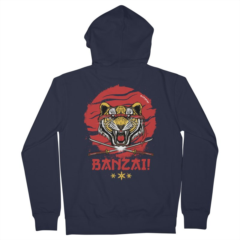 BANZAI! Women's Zip-Up Hoody by mewtate's Artist Shop