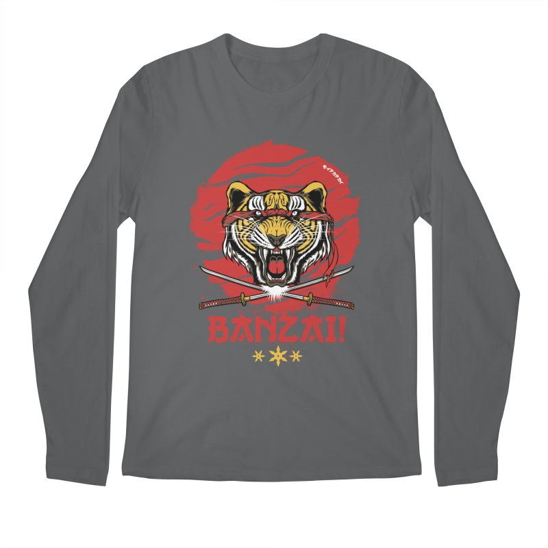 BANZAI! Men's Longsleeve T-Shirt by mewtate's Artist Shop
