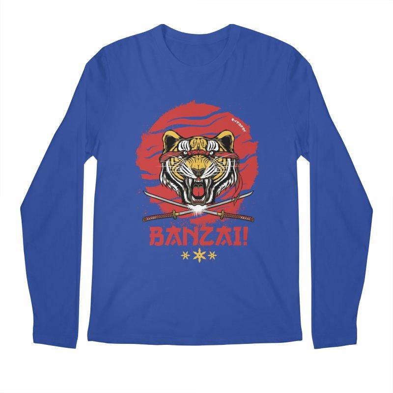 BANZAI! Men's Longsleeve T-Shirt by mewtate's Artist Shop