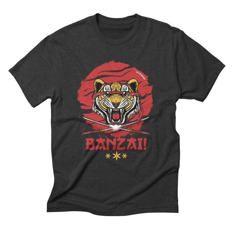 BANZAI! Men's Triblend T-Shirt by mewtate's Artist Shop
