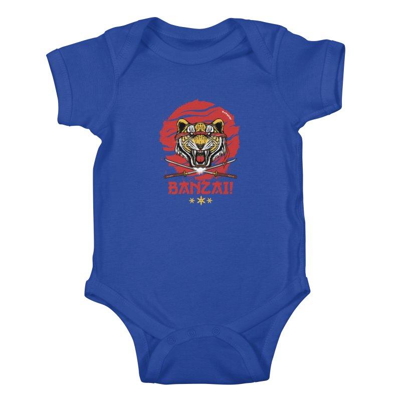 BANZAI! Kids Baby Bodysuit by mewtate's Artist Shop