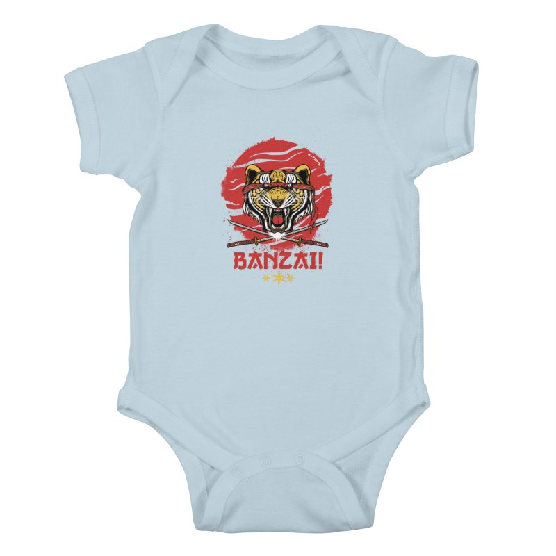 BANZAI! Kids Baby Bodysuit by mewtate's Artist Shop